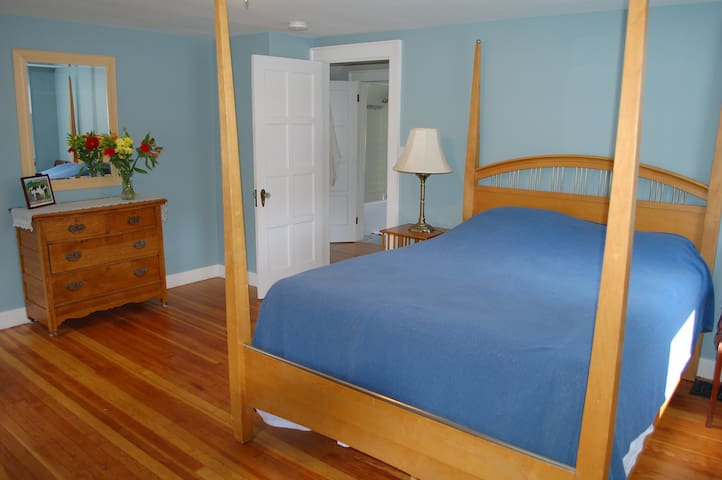 Bedroom #1 -- large upstairs bedroom with a queen size bed