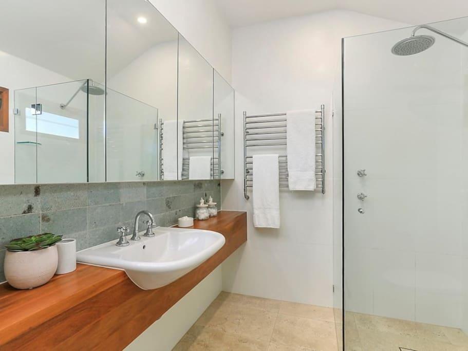 One of the designer bathrooms