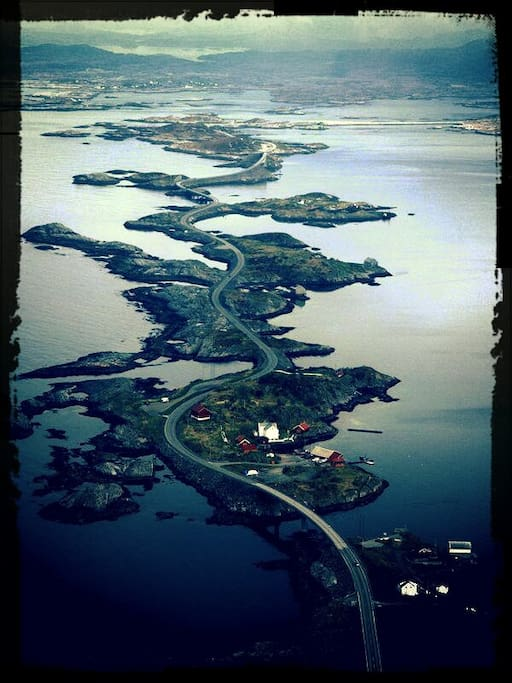 The Atlantic Road from the air