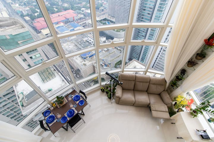 Life on the top! Penthouse Loft, 3 room 2 bath MNL - Manila - Huoneisto