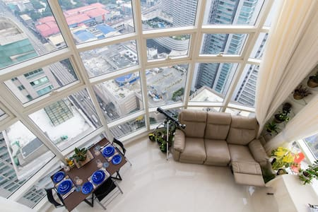 Life on the top! Penthouse Loft, 3 room 2 bath MNL - Manila - Wohnung