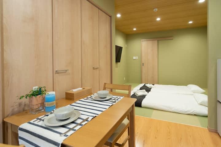 HANASTAY花渓居 · 桜(SAKURA) 1F 6分钟到难波 全新日式和风全屋地暖舒适大浴缸