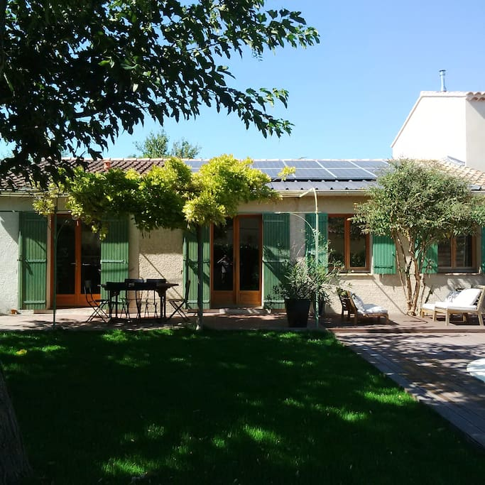 façade sud vue jardin