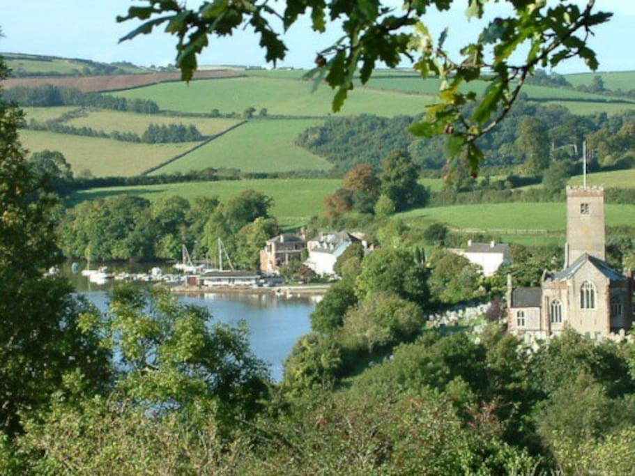 View of the River Dart from the B&B