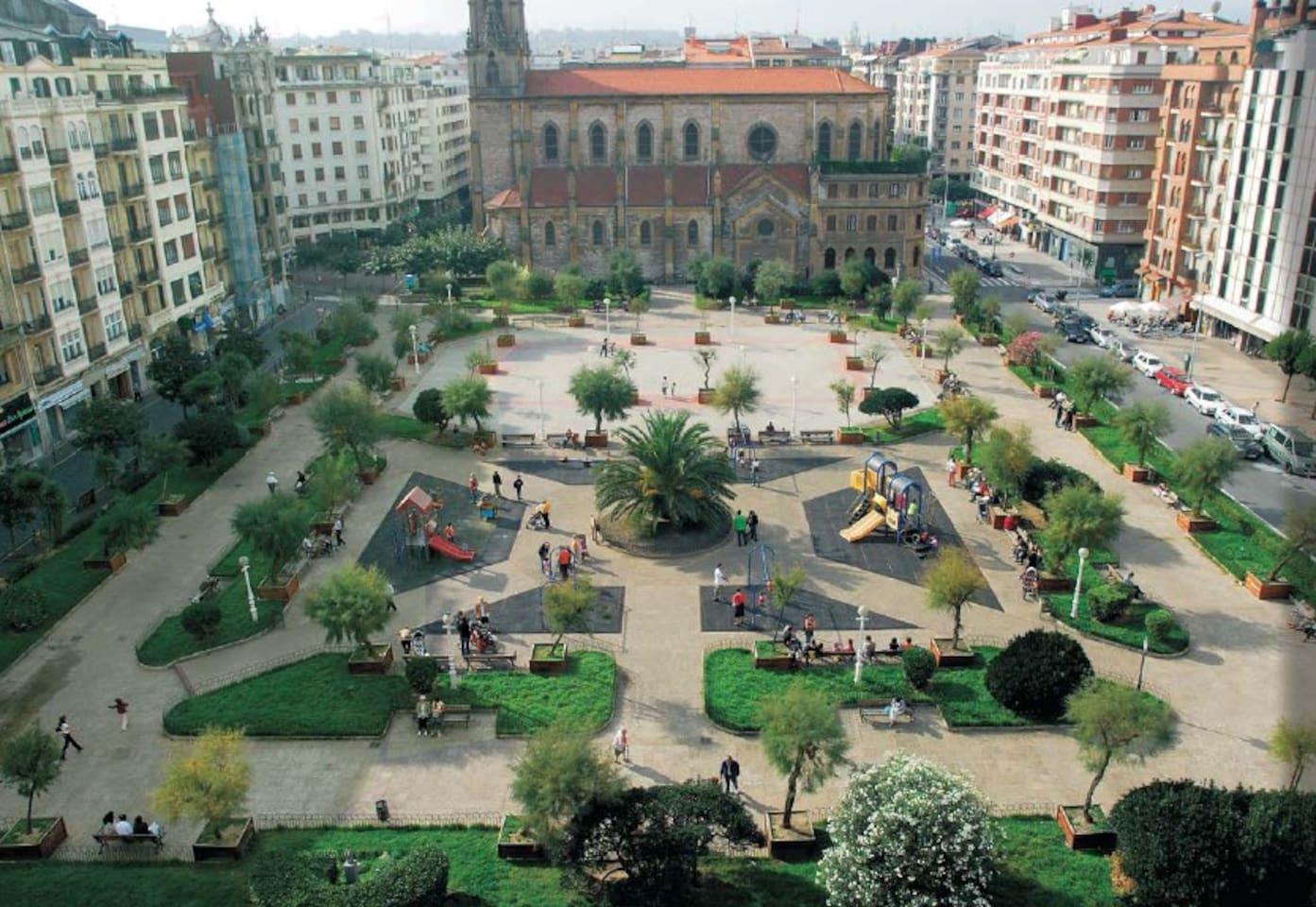 Vistas a la plaza Cataluña