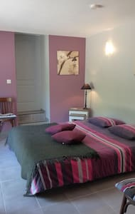 Chambre Zen : lit double king size - Dissay-Sous-Courcillon - Bed & Breakfast
