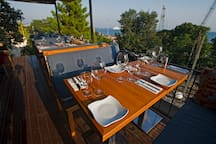Public deck to socialise with locals or other travelers complimented with ocean views