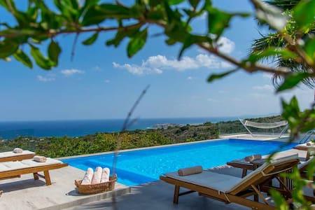 1 km hasta el mar con vistas panorámicas - Atsipopoulo - Villa