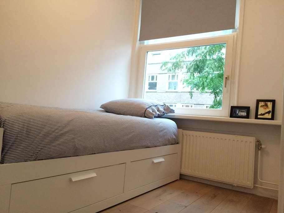 New bed with real mattresses that can be enlarged to a kingsize bed!