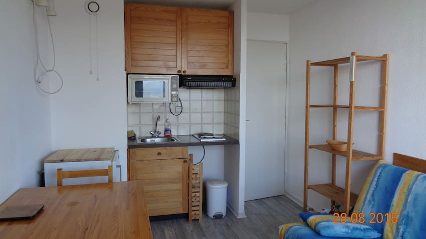 T1 bis et place de parking - meublé - Font-Romeu-Odeillo-Via - Appartement