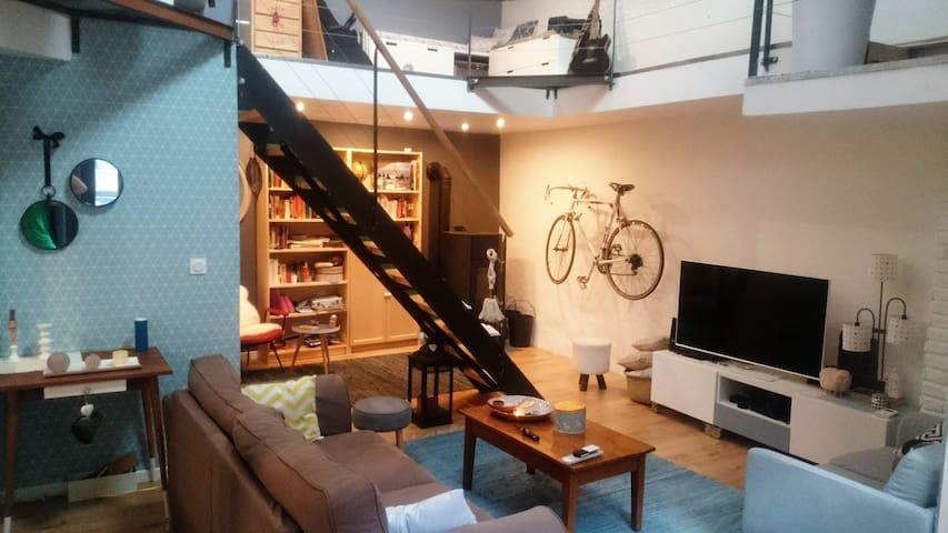 chambre privrée dans loft moderne - Clermont-Ferrand - Hus