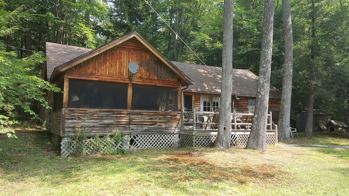 Squam Lake log cabin