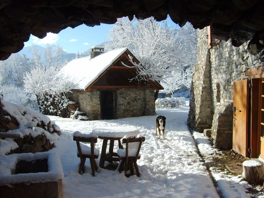 Le four à pain en hiver