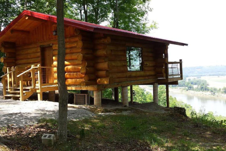 """""""The Hawk's Nest""""  overlooking Ohio River"""