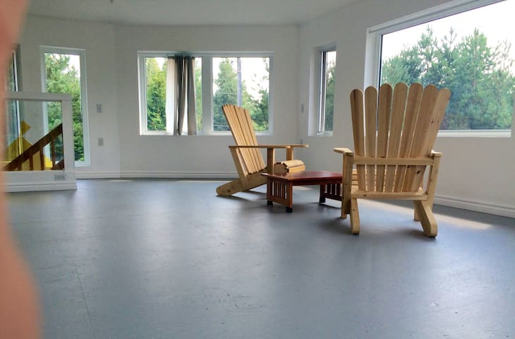 Genuine locally crafted Adirondack Chairs on 2nd fl