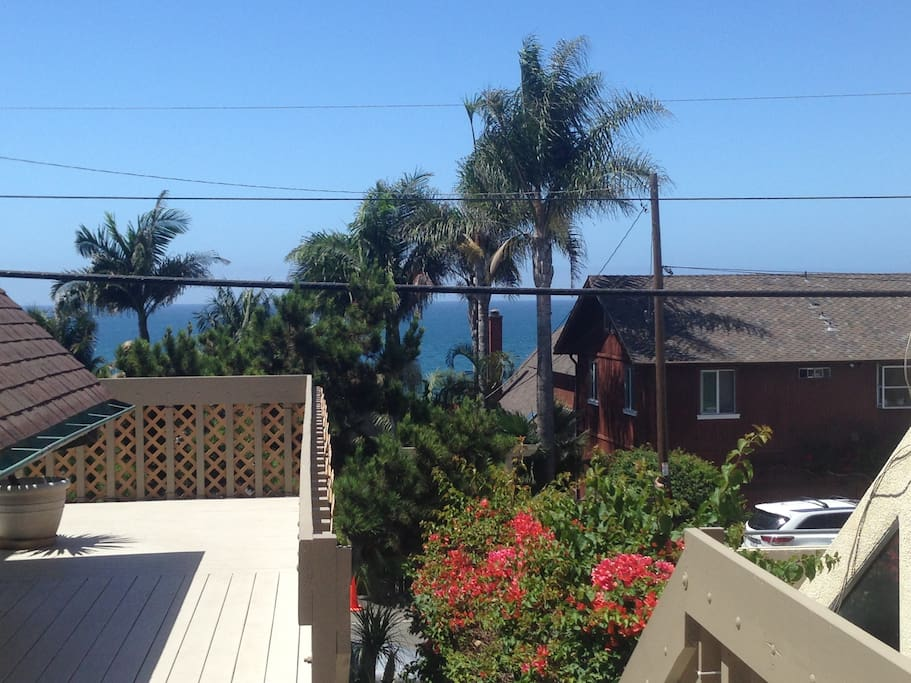 View of ocean from patio/deck!