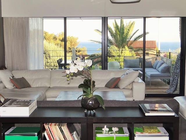 Villa / piscine et jolie vue mer - แบนดอล - บ้าน