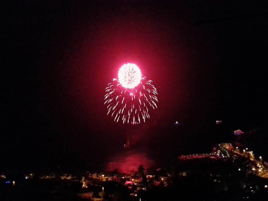fireworks from the terrace