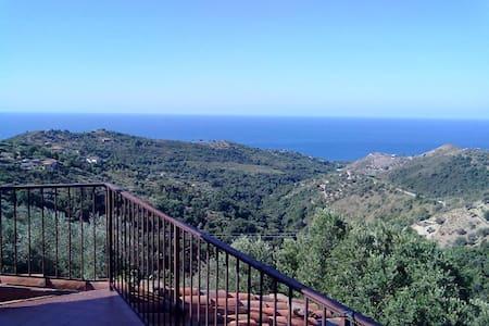 Panoramico casale sul mare e ulivi. - Pollica - Rumah