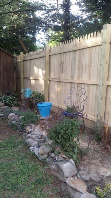 Private Garden in backyard