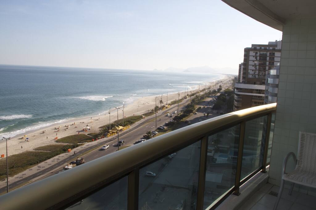 Uma vista privilegiada da Praia da Barra da Tijuca 13 andar
