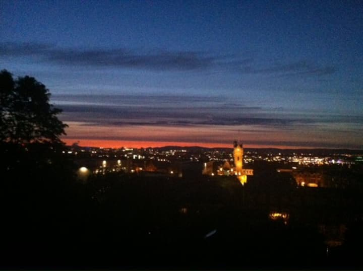 Spectacular views over Glasgow