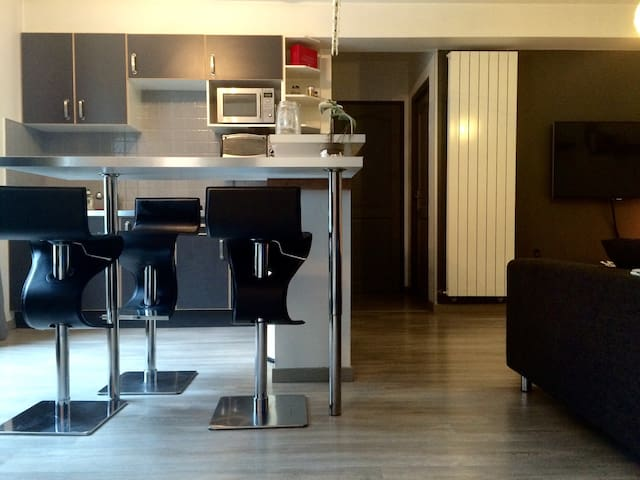 Apt T2 60m2, avc 1h de Spa et dej - Béthune - Apartamento