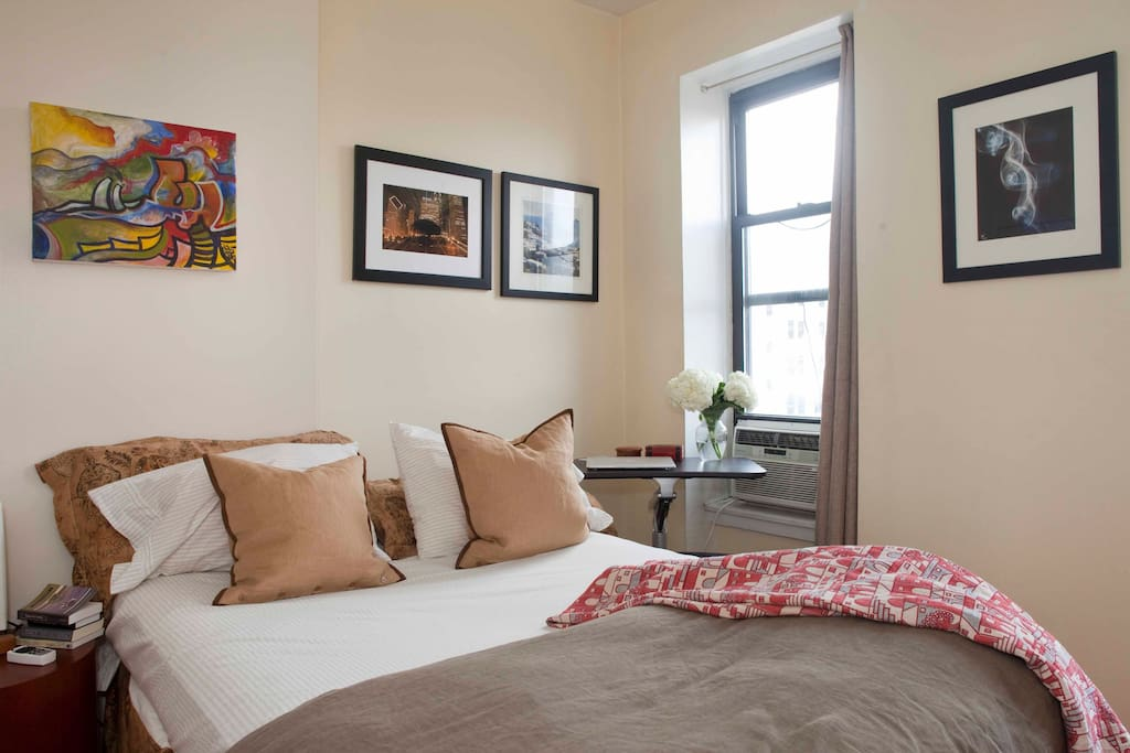 Spacious (for NYC) sun-drenched bedroom