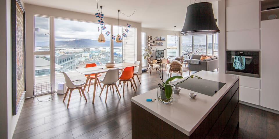 Penthouse with harbour view (HG-242) - Reykjavík - Wohnung