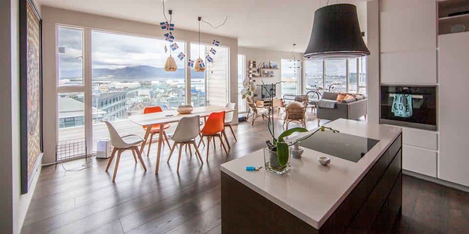 Penthouse with harbour view (HG-242) - Reiquiavique - Apartamento