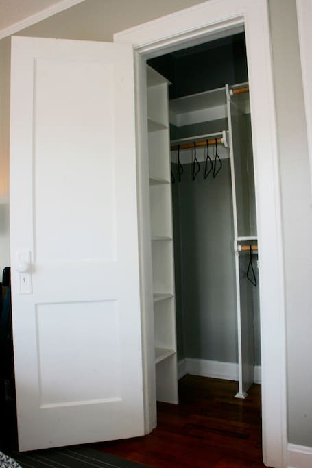 Closets are nice and large so you can spread out and get organized.
