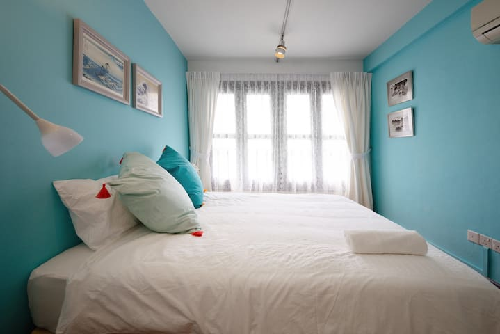 Calming Turquoise Room near Sentosa 8 mins to MRT - Singapore - House