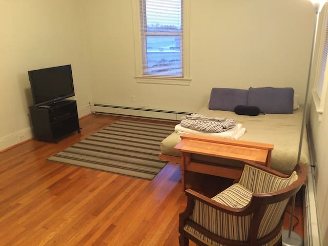 Spacious bedroom has cable TV
