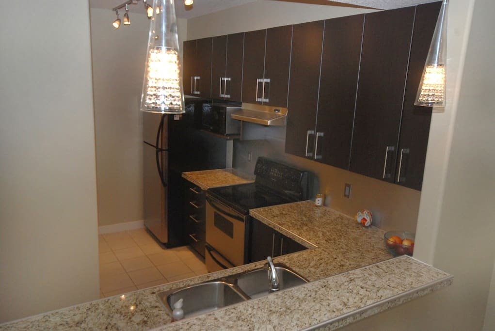 Gorgeous fully equipped kitchen with Granite Countertops.