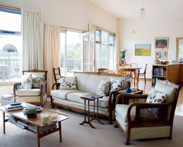 Sunny artist designed house Clifton Beach 5 acres