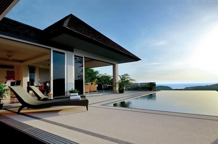 Layan SEA VIEW villlas - Best View, 3-br, 12m pool