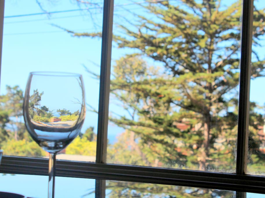 imagine looking out at the ocean while enjoying a glass of wine at family dinner
