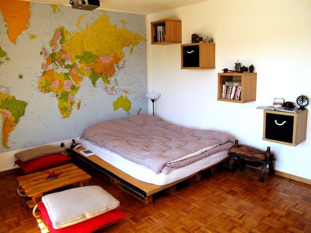 Jolie chambre avec balcon - Lausanne - Lägenhet
