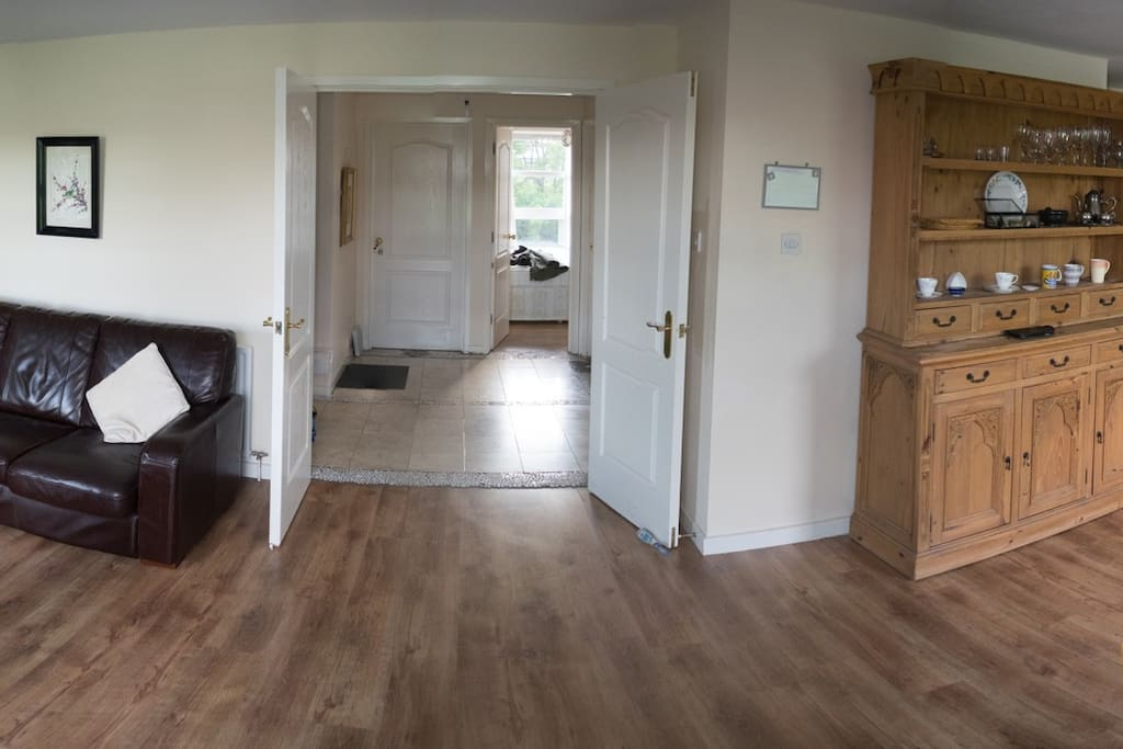 Open Plan Living Room looking into the Hall