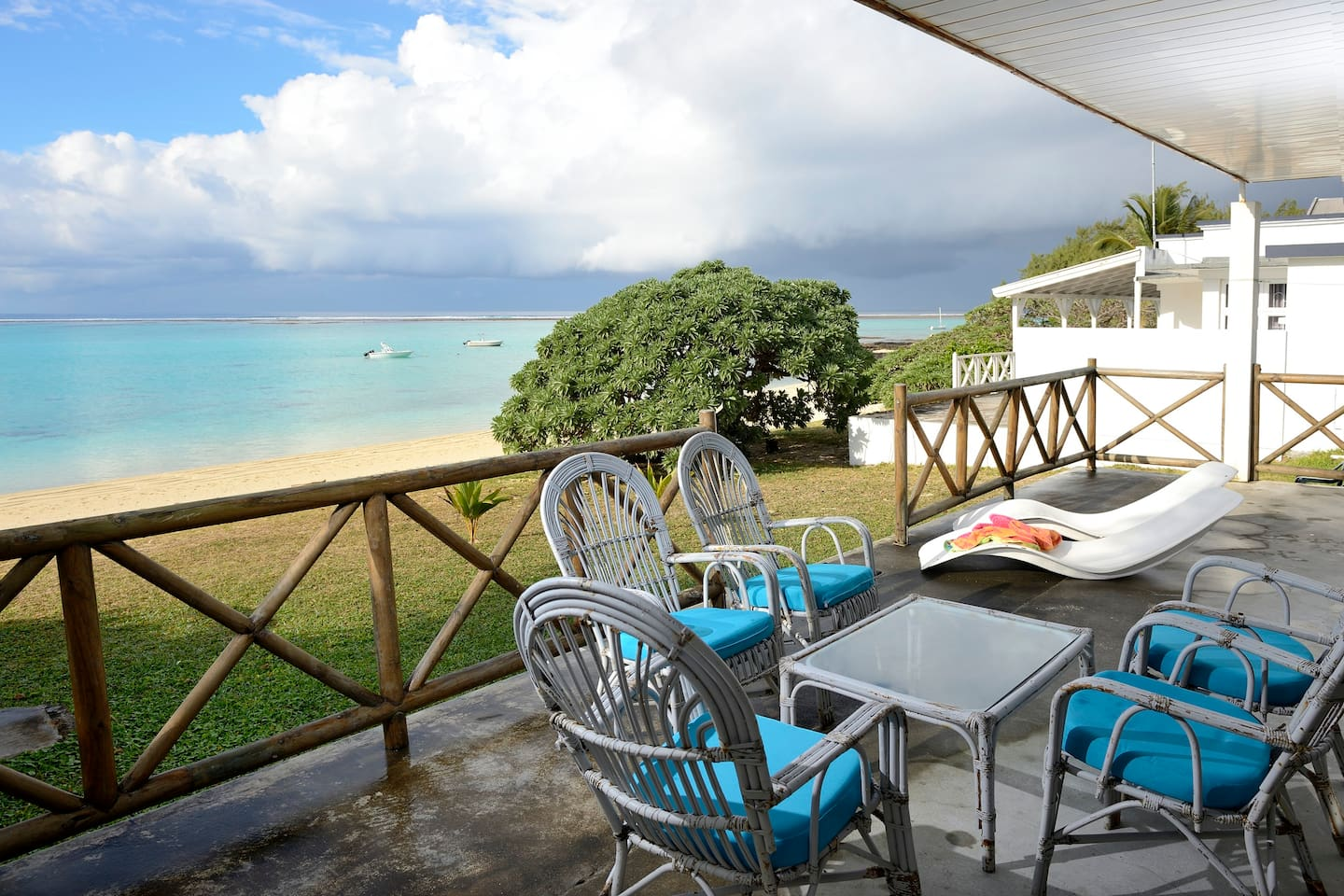 Pleasant view from the beach front veranda