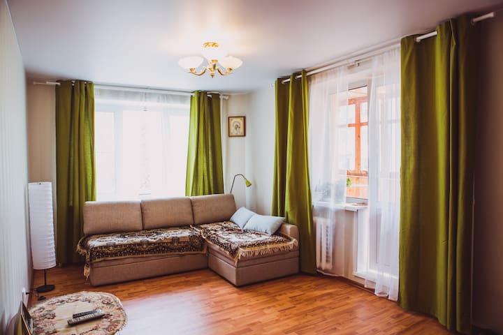 3-к квартира 15мин пешком до центра - Псков - Apartment