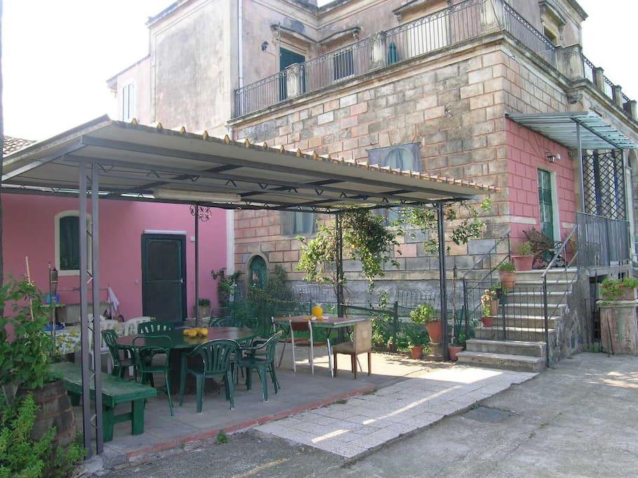 garden pink apartment