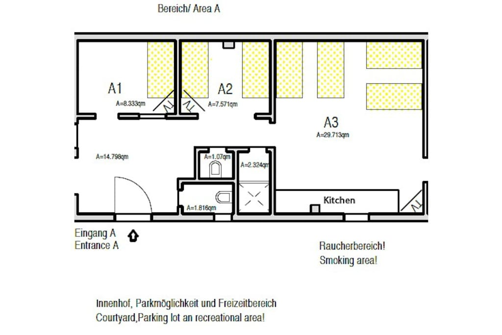 Grundriss/ Layout  AREA A