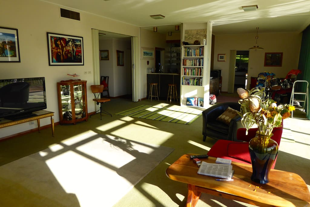 Sunlight into the lounge.