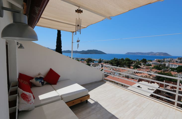 Penthouse with amazing landscape - Kaş - Loft