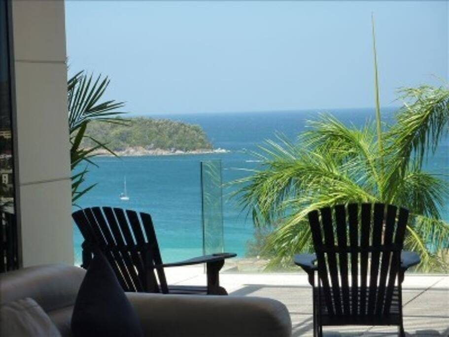 Views From The Living Room Overlooking Pu Island, Kata Beach, and The Andaman Sea