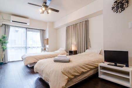 可爱明亮的公寓房/移动WIFI - Shinjuku-ku