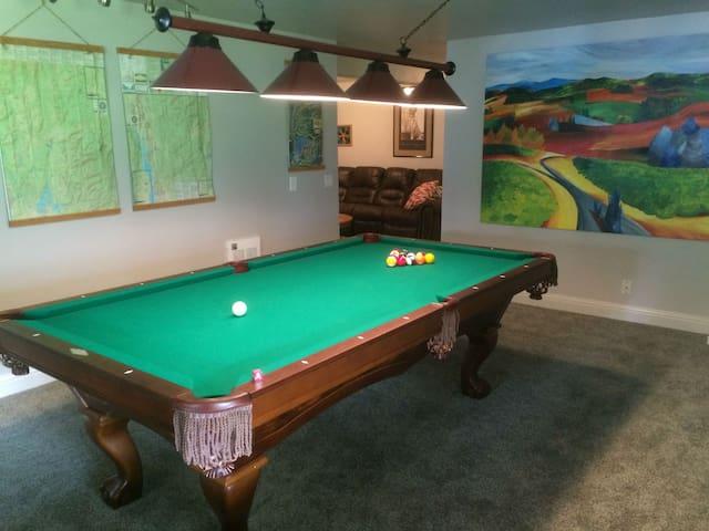 Pool table room, 1st floor/basement.