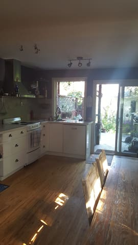 Kitchen and back deck