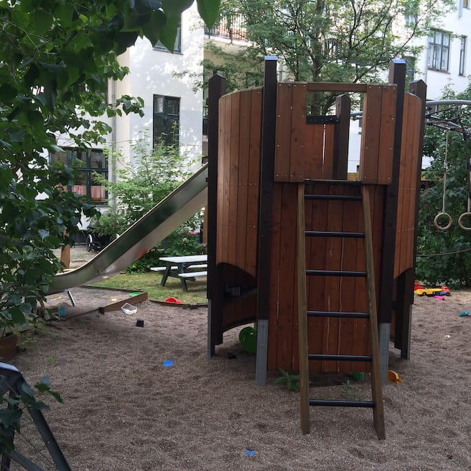 Little playground in the backyard